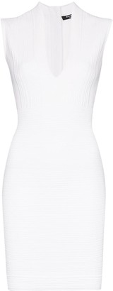 Balmain Sleeveless Fitted Mini Dress
