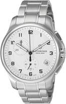 Victorinox Men's 'Officer's' Swiss Quartz Stainless Steel Casual Watch (Model: 241554)
