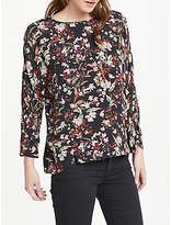 Oui Floral Print Top, Multi