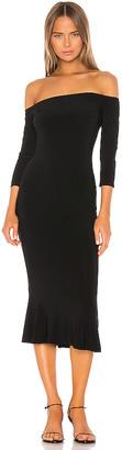 Norma Kamali Off Shoulder Fishtail Dress