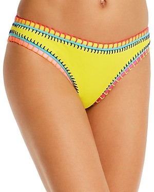 Platinum inspired by Solange Ferrarini Neon Yellow Whipstitched Scoop Bikini Bottom - 100% Exclusive
