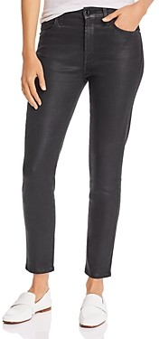 7 For All Mankind Jen7 by Coated Skinny Ankle Jeans in Black