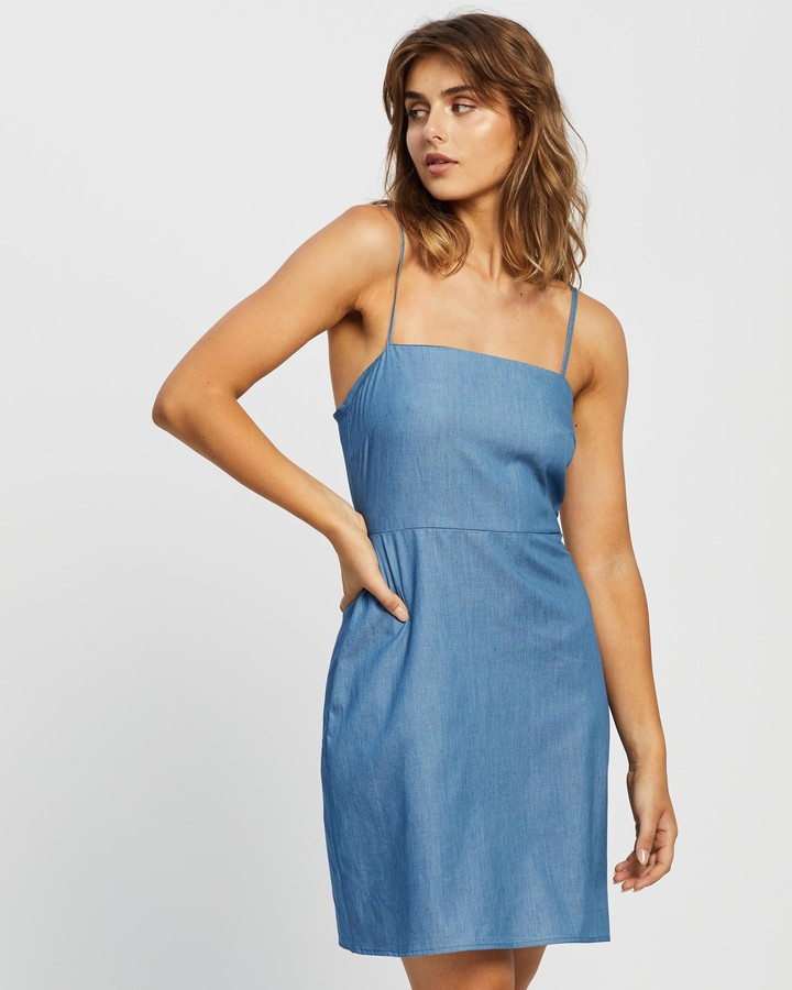 Thumbnail for your product : Atmos & Here Atmos&Here - Women's Blue Mini Dresses - Verita Mini Dress - Size 16 at The Iconic