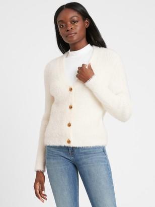 Banana Republic Fuzzy Cropped Cardigan Sweater