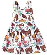 Moschino Bear Printed Cotton Poplin Dress