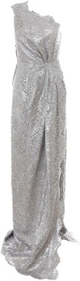 DSQUARED2 One Shoulder Scallop Trimmed Maxi Dress