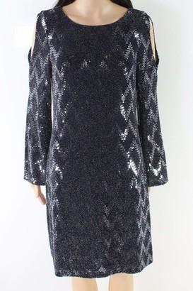 Jessica Howard Women's Bell Sleeve Cold Shoulder Sheath Dress