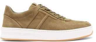 Tod's Cassetta Leather Trainers - Mens - Khaki