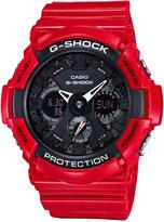 G-Shock Men's Analog-Digital Red Resin Bracelet Watch 51mm GA201RD-4A