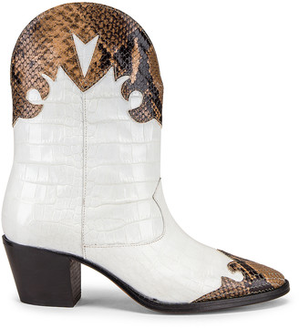 Paris Texas Python Moc Coco Texano Boot in Camel & White | FWRD