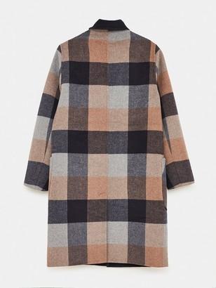 White Stuff Bista Reversible Wool Coat - Natural
