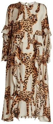 MUNTHE Leopard Print Julia Dress