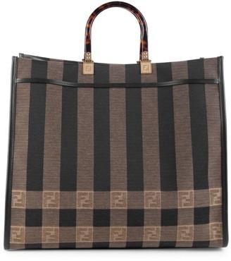 Fendi FF Jacquard Striped Shopper