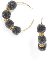 BaubleBar Women's Curacao Pompom Hoop Earrings