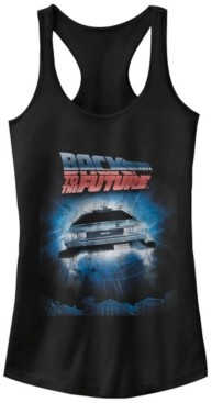 Fifth Sun Back To The Future Flying Car Portal Ideal Racer Back Tank
