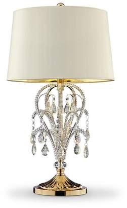 "o.r.e International K-5151T 28.5"" Amoruccio Crystal Gold Table Lamp"