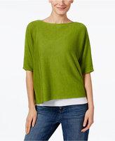 Eileen Fisher Organic Linen Boxy Sweater