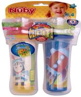 Nuby 531018KS Clik-It Insulated Knight Plus Space No-Spill Cool Sipper for 18 Month Plus Children(2 Pack), 9 oz(270ml)