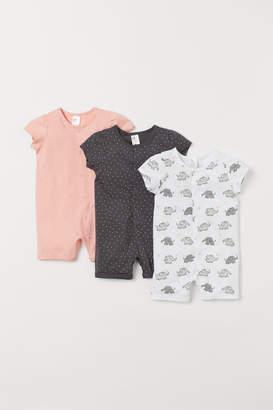 H&M 3-pack Cotton Jumpsuits - Orange
