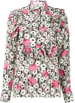 Valentino Circle Flowers print blouse - women - Silk - 38