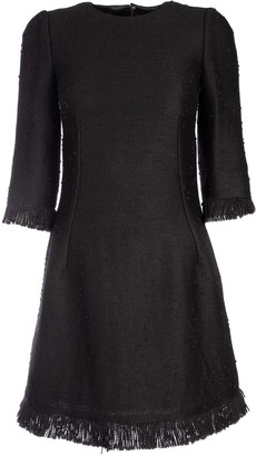 Dolce & Gabbana Frayed Mini Dress