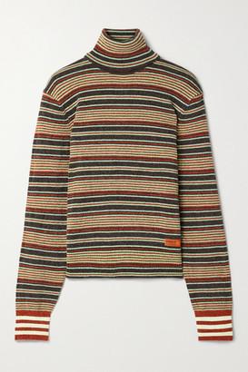 adidas + Wales Bonner Striped Chenille Turtleneck Sweater - Dark gray