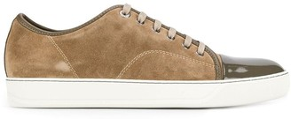 Lanvin panelled lace-up sneakers