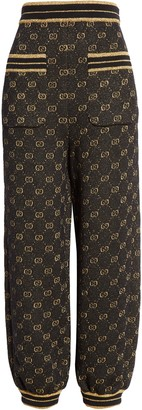Gucci GG Metallic Jacquard Wool Blend Track Pants
