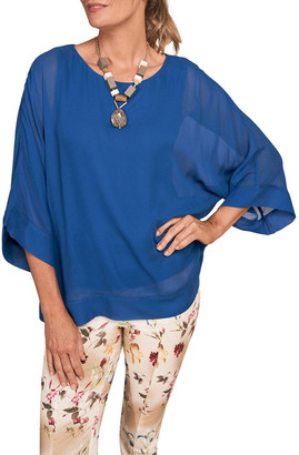 Blue Illusion Double Layer Top