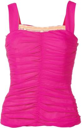 Galvan Sleeveless Ruched Top