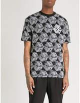 McQ Reflective logo-print cotton-jersey T-shirt