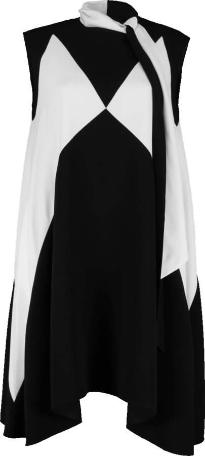 Givenchy Asymmetrical Neck Tie Dress