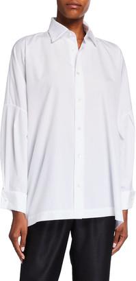 eskandar Dropped-Shoulder Collared Button-Down Shirt