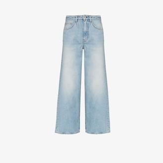 Totême Cropped Wide Leg Jeans