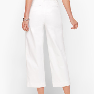 Talbots Wide Leg Crop Jeans