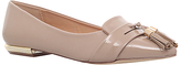 Miss KG Nikki Tassel Pointed Flat Court Shoes, Nude