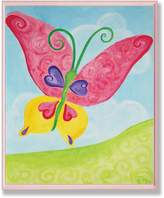 Stupell Industries The Kids Room by Stupell Oversized Red and Yellow Butterfly Rectangle Wall Plaque