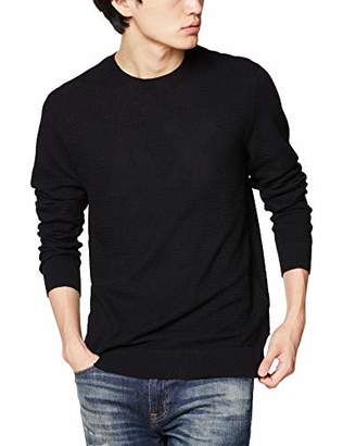 Armani Exchange A|X Men's Woven Cotton/Cashmere Crew Neck Pullover