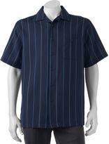 Haggar Men's Classic-Fit Microfiber Easy-Care Button-Down Shirt