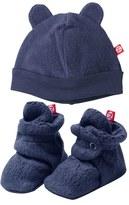 Zutano Infant Girl's 'Cozie' Hat & Bootie Set