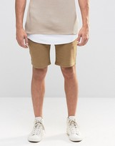 Asos Jersey Shorts In Sand