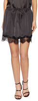 Lucca Couture Charmeuse Lace Trim Skirt
