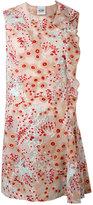 Si-Jay - floral asymmetric frill dress - women - Polyamide/Polyester - 42