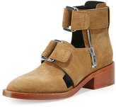 3.1 Phillip Lim Addis Cutout Leather Buckle Boot, Oak