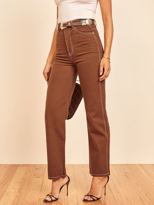 Reformation Cowboy High Rise Straight Jeans