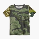 J.Crew Boys' pocket T-shirt in camo mash-up