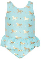 Snapper Rock Toddler Gold Horse Skirt One Piece