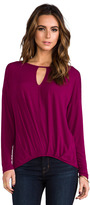 Michael Stars Long Sleeve Keyhole Top
