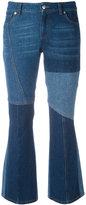 Alexander McQueen panel kick flare jeans - women - Cotton - 40