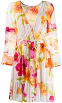 Twin-Set Floral Pleated Dress